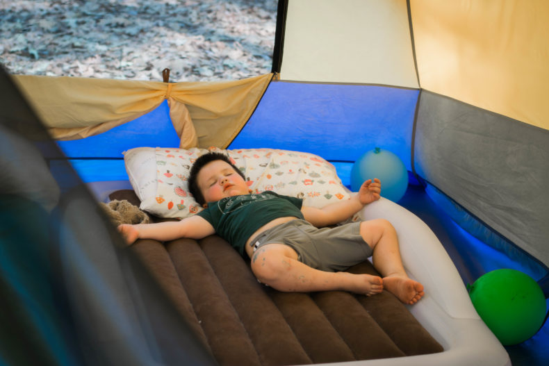 Sleeping in tents with babies