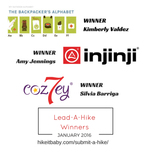 Lead a Hike Prize Winners - Jan 2016