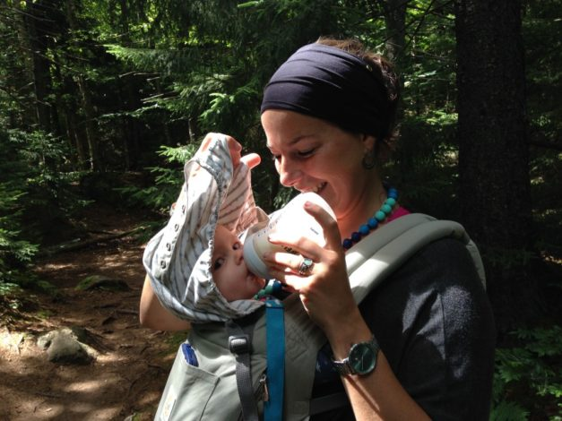 Bottle-Feeding On the Trail (1)
