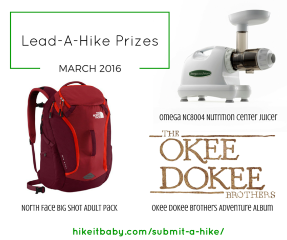Lead a Hike Prizes - March 2016
