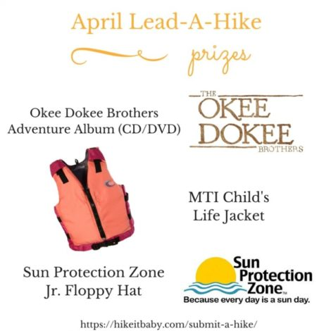 Lead a Hike Prizes - April 2016