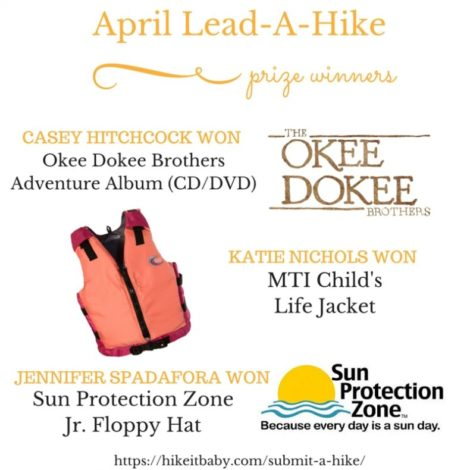 April 2016 Lead a Hike Prize Winners