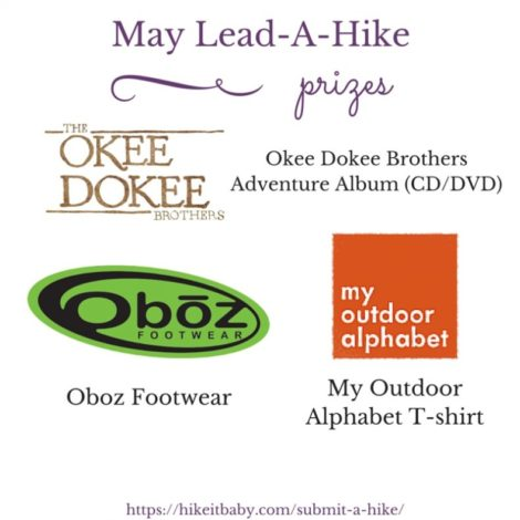 Lead a Hike Prizes - May 2016
