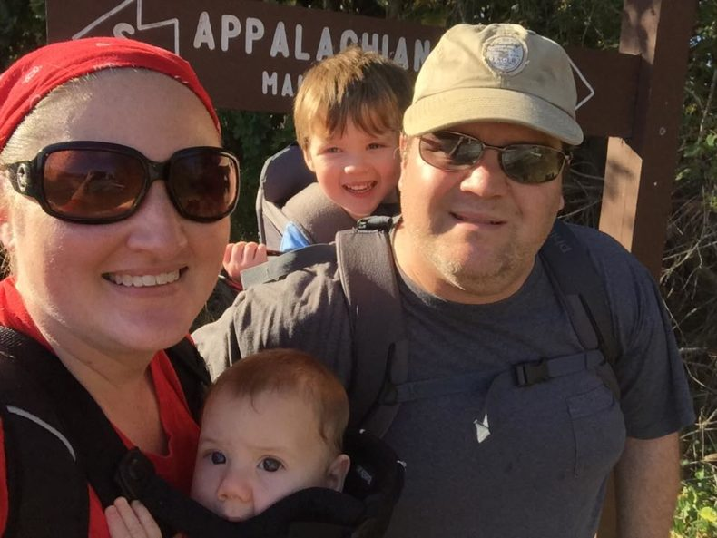 Our first trail hike as a family of four during Hike it Baby 30 November 2015. We set out just going as far as we could and ended up with 6 miles.