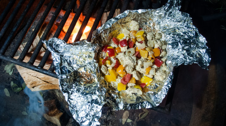 foil packet meal on grill