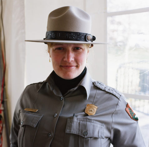 Miriam is proud to be a Park Ranger.