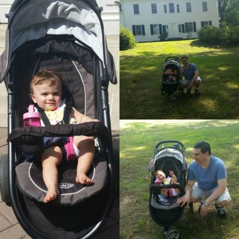 Bee and her dad, Dan, check out Washington's Headquarters at Morristown in Morris County, New Jersey during the National Park Service's 100th Anniversary celebration weekend in 2016.