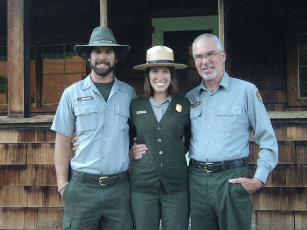 Park ranger Roberta smiles with her family.