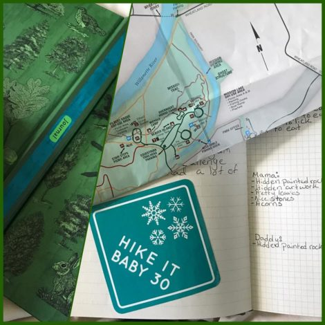 The Challenge of the HiB 30 Sticker: Creative Ways to Display by Jessica Nave for Hike it Baby