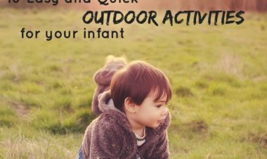 Simple, Quick and Easy Outdoor Activities for Your Infant by Kirby Crawford for Hike it Baby (image of a little boy wearing a bear hoodie crawling in the grass)