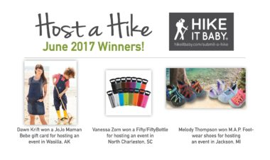 "Hike it Baby's ""Host a Hike"" prize winner announcement"