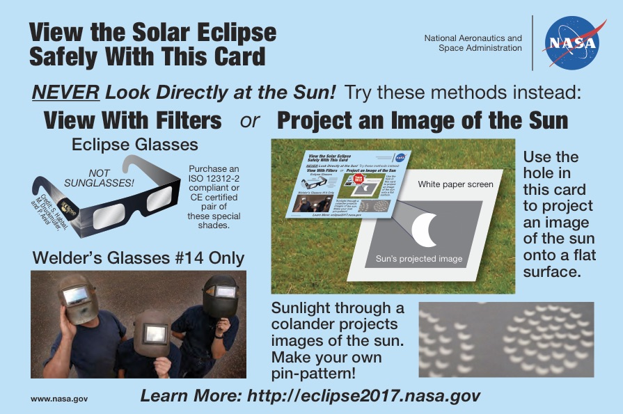 NASA eclipse safety viewing explanation