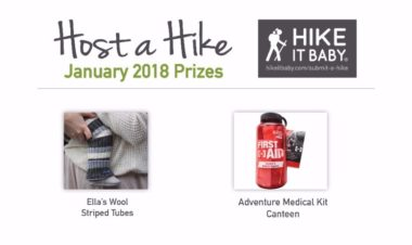 Host a Hike January prizes for Hike it Baby