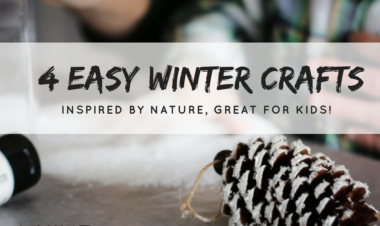 4 Easy Winter Crafts, Inspired by nature and great for kids!