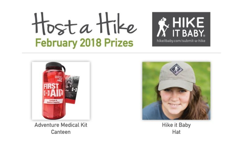 Host a Hike February prizes for Hike it Baby