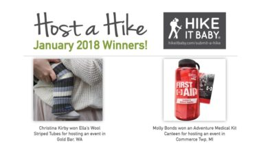 Host a Hike January winners by Natalie Kendrach for Hike it Baby