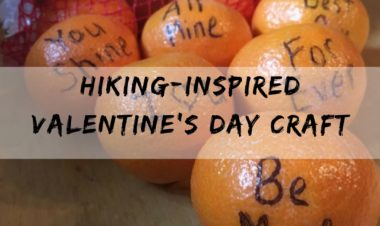 Hiking inspired valentines day craft by Jenyfer Patton for Hihke it Baby