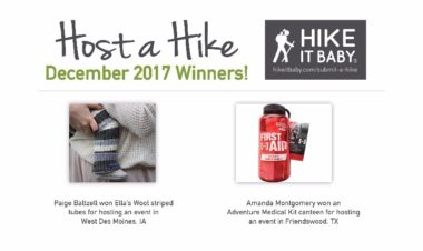 Host a Hike December winners for Hike it Baby