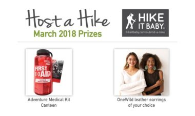 Host a Hike Prizes March 2018 Hike it Baby