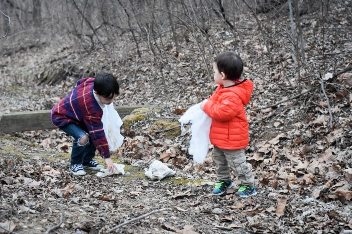 Trail cleanup safety by Julie McNulty for Hike it Baby