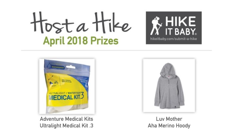 Host a Hike April 2018 prizes for Hike it Baby