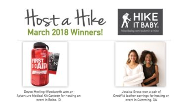 Host a Hike March winners for Hike it Baby