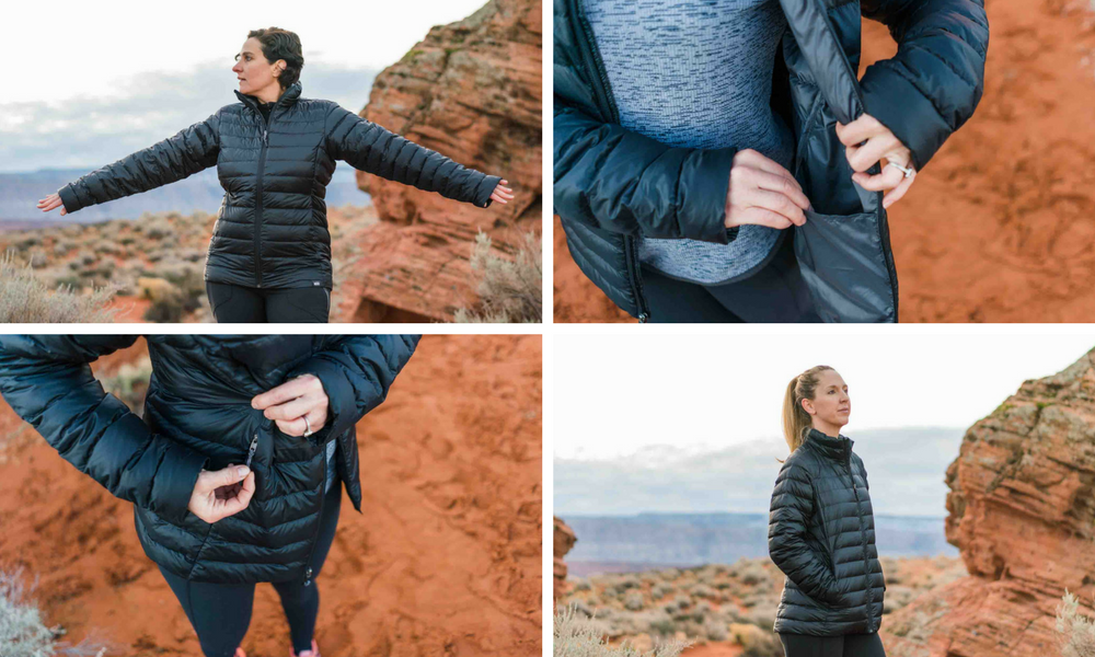 Comparison of 7 Lightweight Down Jackets by Shanti Hodges for Hike it Baby