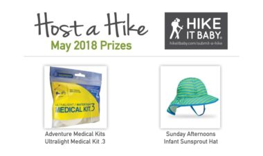 Host a Hike May 2018 Prizes for Hike it Baby