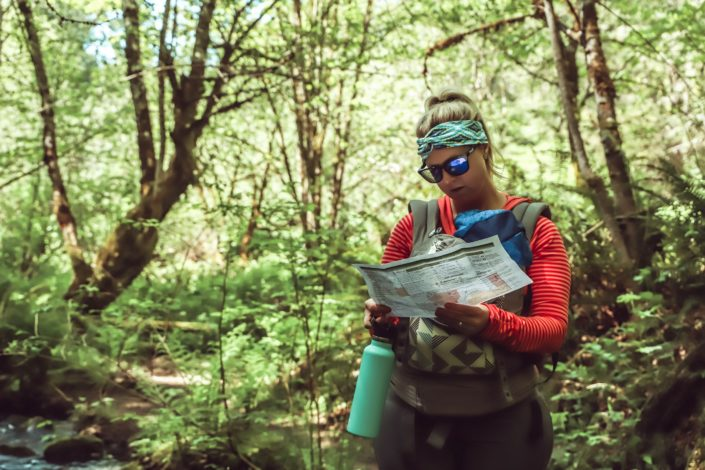Learning Basic Navigation Skills by Julie McNulty for Hike it Baby