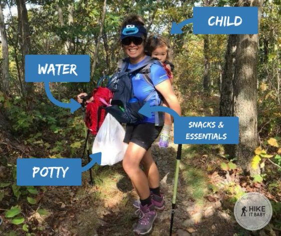 How to carry supplies with a soft-structured carrier by Vong Hamilton for Hike it Baby