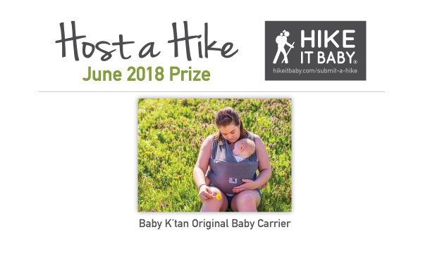 Host a Hike prizes June 2018 for Hike it Baby