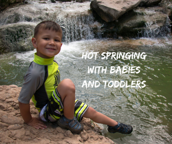 Hot springing with babies by Shanti Hodges for Hhike it Baby