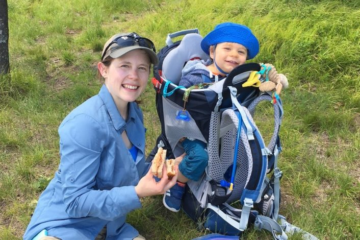 How to pack trail snacks for hiking in summer by Rebecca Hosley for Hike it Baby