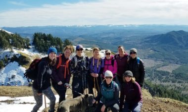 Celebrating women on trail by Vong Hamilton for Hike it Baby