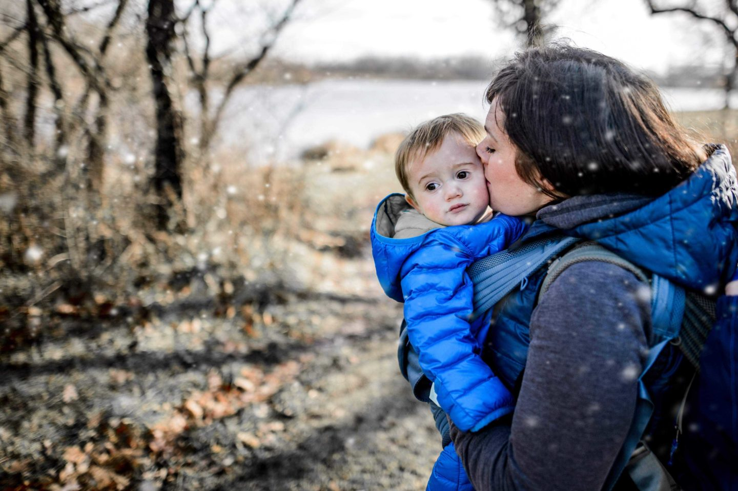 How to keep your family warm on trail in winter by Rebecca Hosley for Hike it Baby