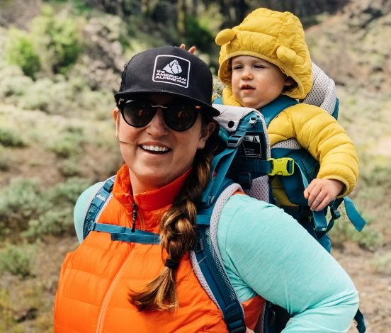 Deuter launches first women's fit hiking kid carrier by Linzay Davis for Hike it Baby