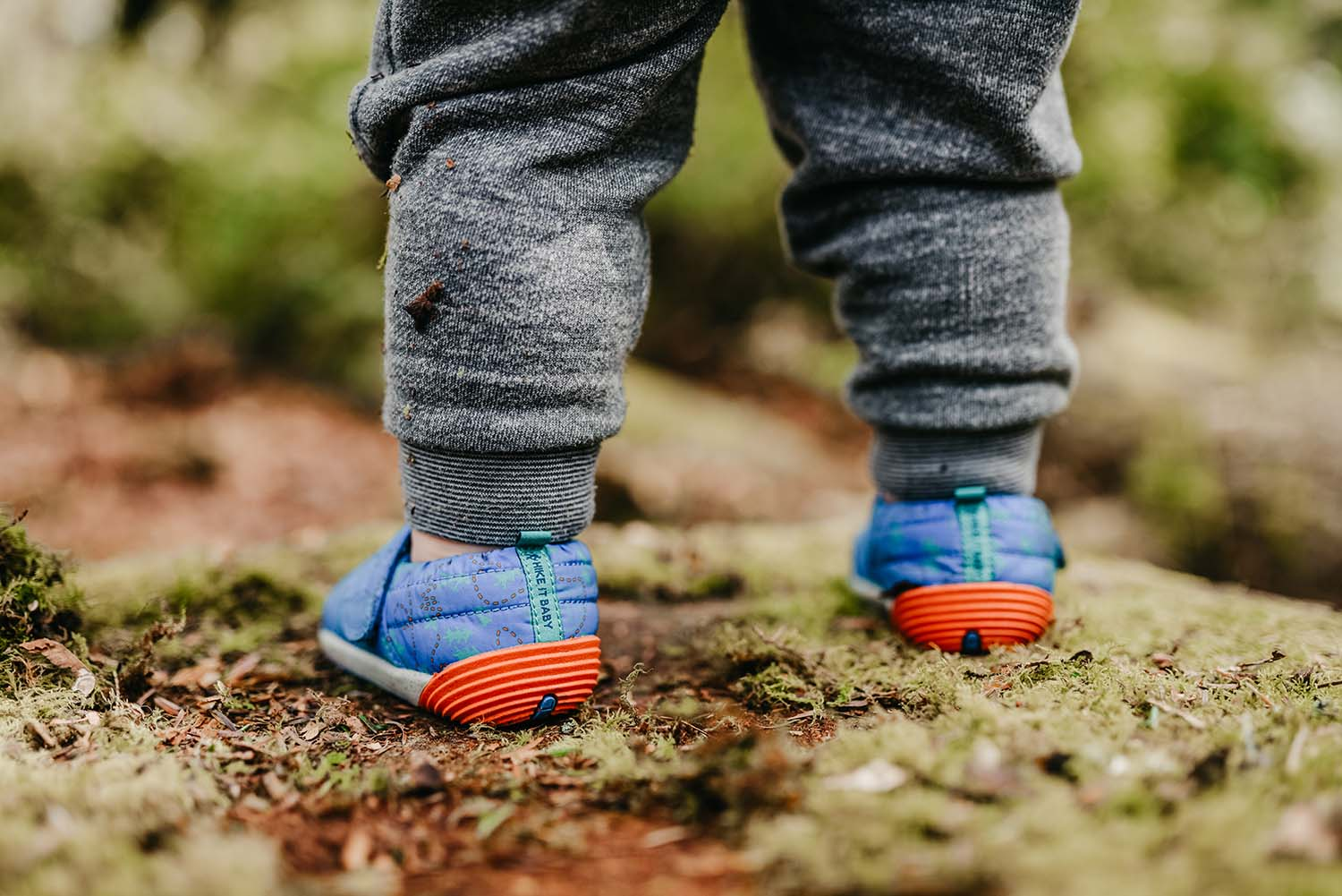 MERRELL LITTLE KID'S BARE STEPSⓇ HUT MOC IN EXCLUSIVE HIKE IT BABY DESIGN