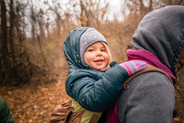 babywearing in cold weather outdoors