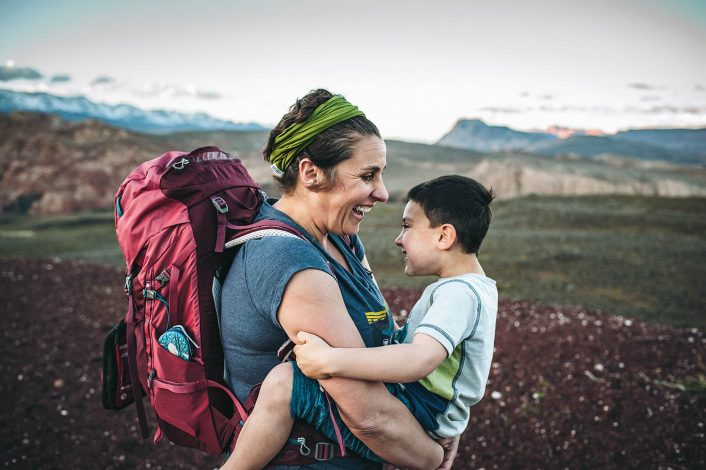 hike it baby founder shanti hodges and her son