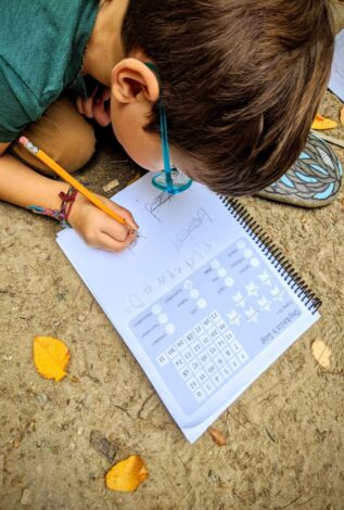 Nature Journaling with Kids example